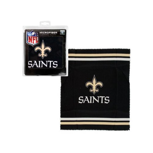 Bulk Buys New Orleans Saints Microfiber Eyeglass Cleaning Cloth, Case of 24