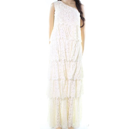 Rachel Zoe NEW White Ivory Womens Size 2 Lace Knit Tiered Maxi Dress