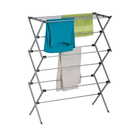 Mainstays Deluxe Folding Metal Accordion Drying Rack, Silver