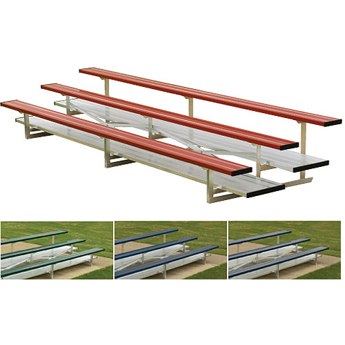 2-Row 21' Powder-Coated Bleachers, Scarlet