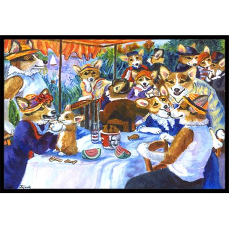 Carolines Treasures 7321MAT Corgi Boating Party Indoor & Outdoor Mat, 18 x 27 in. - image 1 de 1