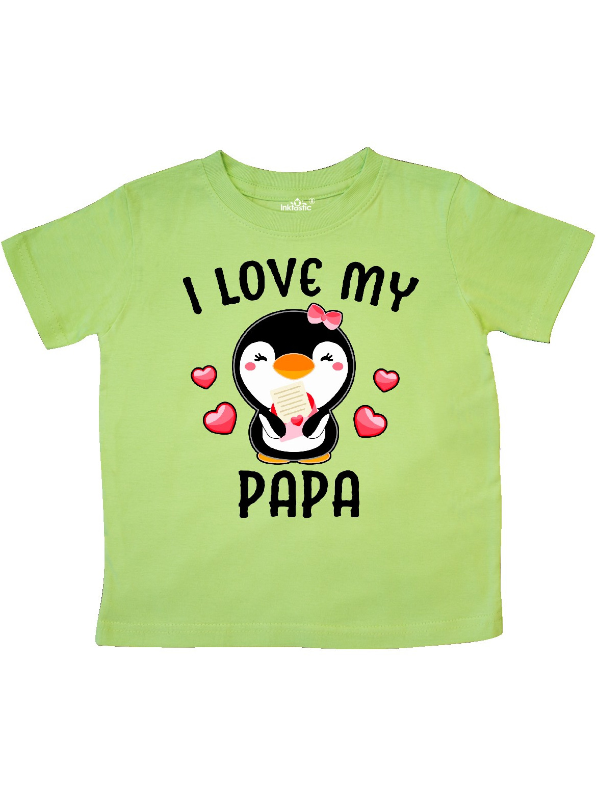 inktastic I Love My Pappap with Cute Penguin and Toddler Long Sleeve T-Shirt