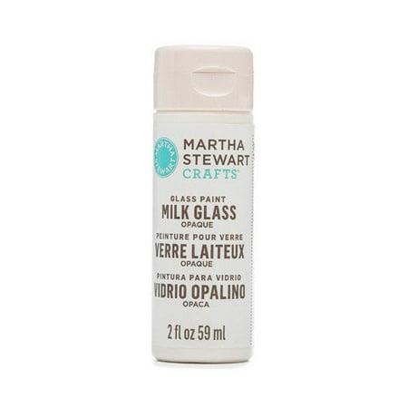 Martha Stewart Crafts Opaque Milk Glass Paint: Milk White, 2