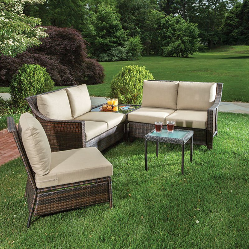 Alfresco Logan 3 Piece All Weather Wicker Conversation Set