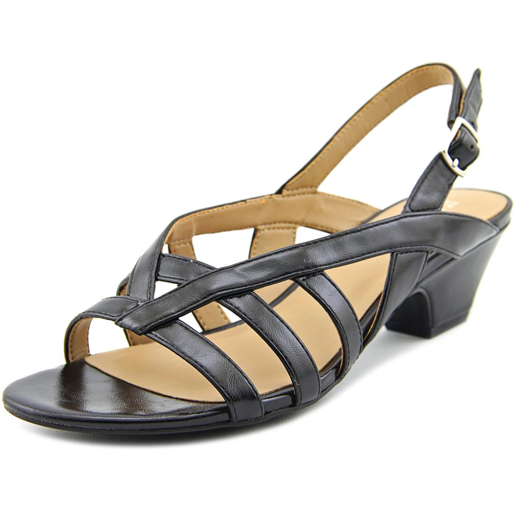 Click here to buy Naturalizer Belize Women Open-Toe Synthetic Black Slingback Sandal by Naturalizer.