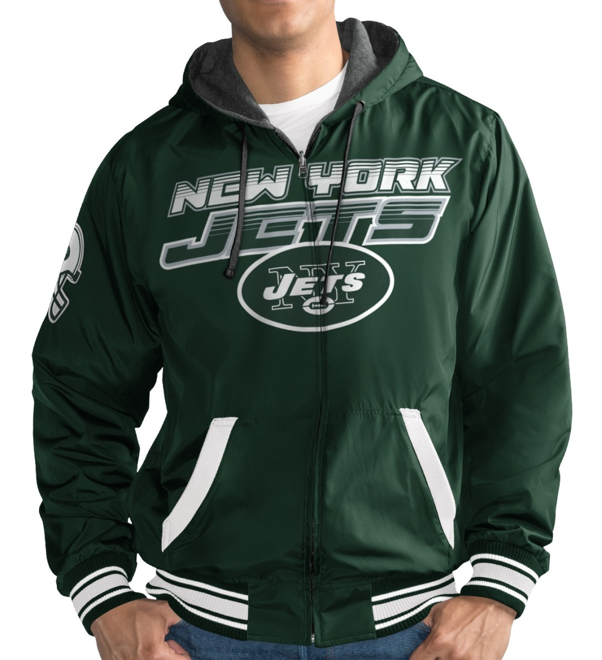 "New York Jets NFL G-III ""Hot Shot"" Full Zip Men's Reversible Sweatshirt"