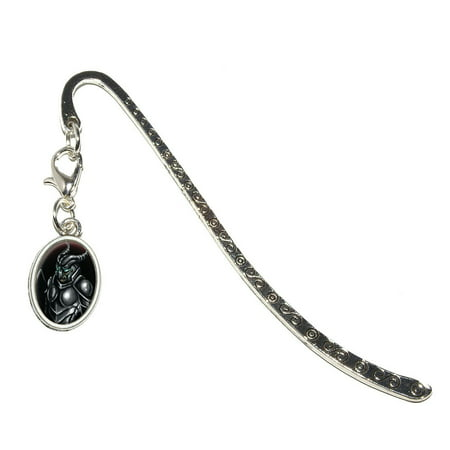 Dragon Knot Bookmark (Knight Armor - Medieval Warrior Dragon Slayer Fantasy Oval Charm Metal)
