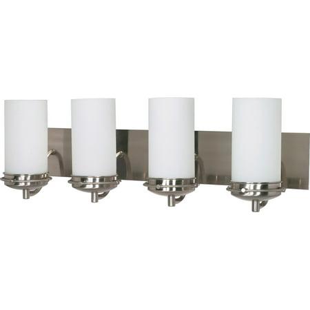 71 Gilded Iron Finish - Bathroom Vanity 4 Light With Brushed Nickel Finish Iron Medium Base 30 inch 400 Watts
