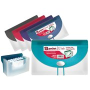 Better Office Products 13 Pocket Check Size Expanding File with Document Case (8 Packs)