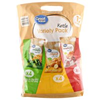 (2 Pack) Great Value Kettle Variety Pack, 10.2 oz, 12 Count