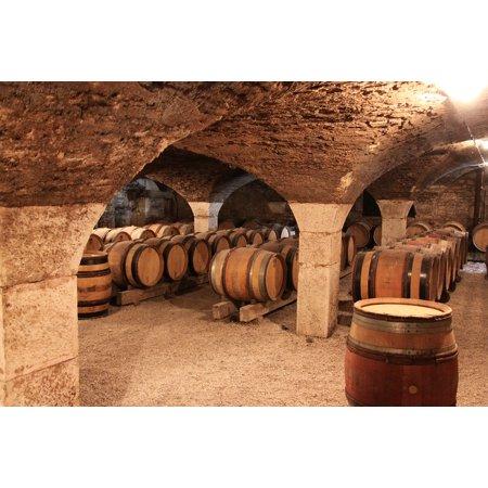 LAMINATED POSTER Cave Barrels Burgundy Barrel Poster Print 24 x 36