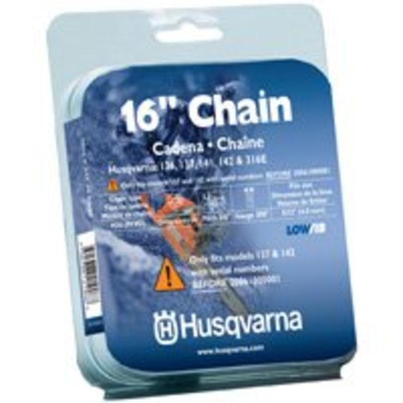 Husqvarna Forest & Garden 531300437 Chain Saw Chain, 95VP, Narrow Kerf, 16-In.