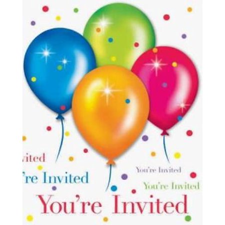 Balloon Invitations (Birthday Balloons Invitations ,)