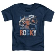 Rocky Balboa Apollo Creed Boxing Rocky Pow Little Boys Shirt Blue