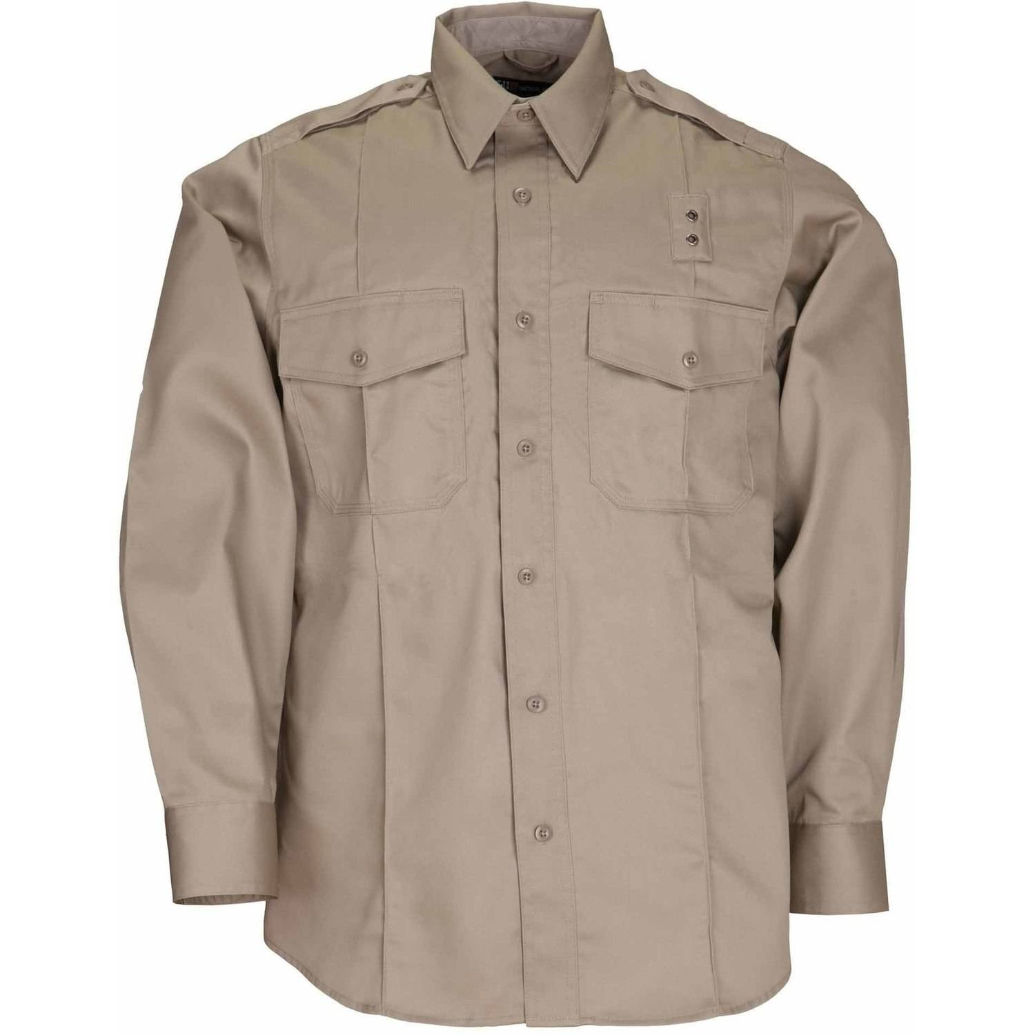 Men's Twill PDU Long Sleeve Class-A Shirt, Silver Tan