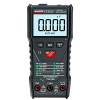 WinAPEX ET8103 LCD Display Portable Auto Measure Multimeter AC/DC Voltage Current Capacitance Electric Field Resistance Meter True RMS 6000 Counts Display with Flashlight Function