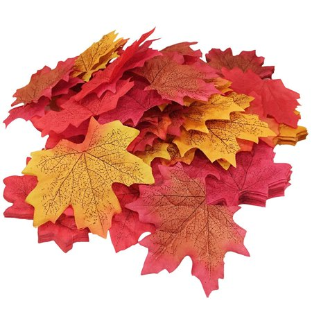 8cm 50 Pcs Fall Colored Artificial Maple Leaves for Weddings, Events and (Grosvenor Maple Leaf)