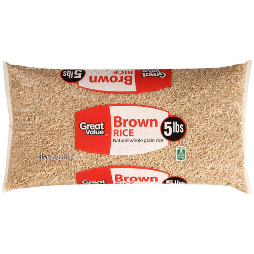 Great Value Brown Rice, 5 lbs