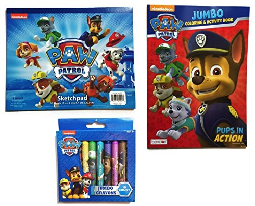 Nickelodeon Paw Patrol 12 Jumbo Crayons