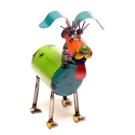 Metal Dog Sculptures (Rustic Arrow Fido Spring Neck Dog)