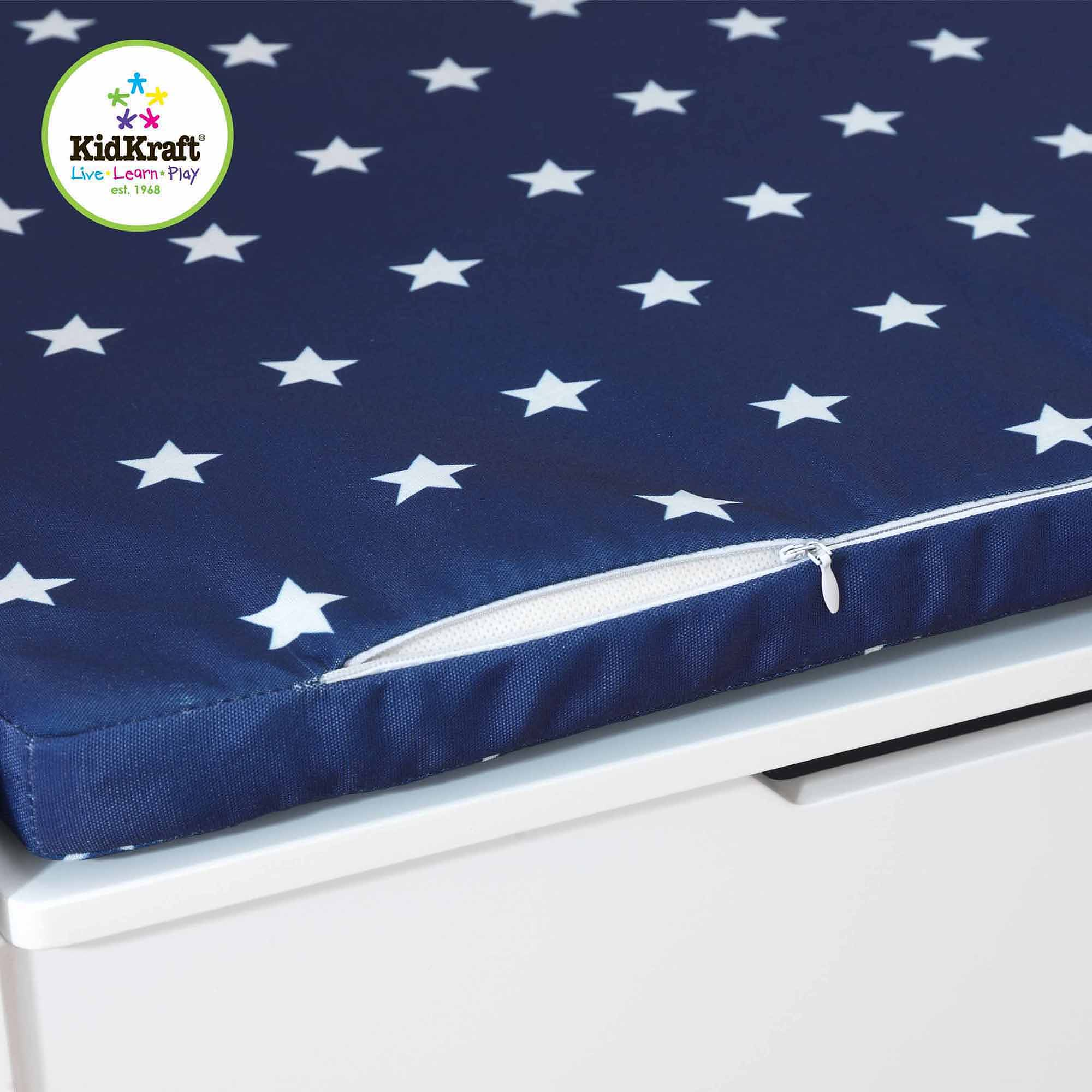 KidKraft Cushion (Navy/White Stars) for KidKraft Austin Toy Box (Cushion Only)