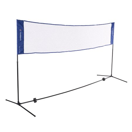 TOMSHOO Portable Quickstart Tennis Badminton Net System Indoor Outdoor Sports Volleyball Training Square Mesh Net with Net Stand and Carry Bag 3m /
