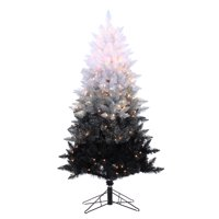 Sterling 5Ft. Vintage Black Ombre Spruce with 250 clear lights