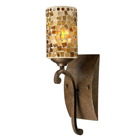 Tiffany Boxes Wholesale (Dale Tiffany Springdale Lighting Knighton 1 Light Mosaic Wall Sconce, Golden Bronze (New Open)