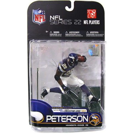 Adrian Peterson Action Figure Purple Jersey Sports Picks Series 22 NFL