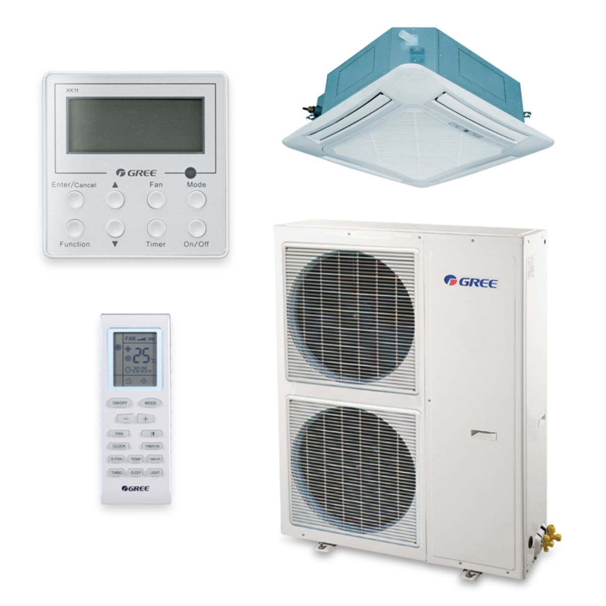Gree UMAT48HP230V1AC-S - 48,000 BTU 16 SEER Ceiling Cassette Ductless Mini Split Air Conditioner Heat Pump 208-230V
