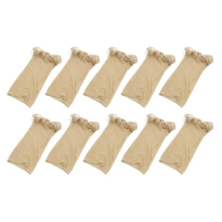 10 Pcs Skin Color Stretchy Open End Net Mesh Stocking Snood Wig Cap - image 3 de 3