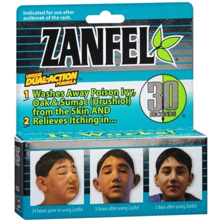 Zanfel Wash For Poison Ivy, Oak & Sumac (Urushiol) 1 oz (Pack of 6)