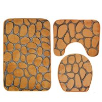 """Bathroom Mat Sets Clearance! - Extra Soft Shower Bath Rugs Mat 31""""x19""""/Contour Mat 19""""x15""""/ Toilet Lid Cover 17""""x15"""" , Washable Non Slip Mat Set for Kitchen, Shower, and Toilet, I5601"""