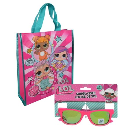 LOL Surprise Set - Children's Pink Sunglasses and Medium Reuseable Tote (Lol Sunglasses)