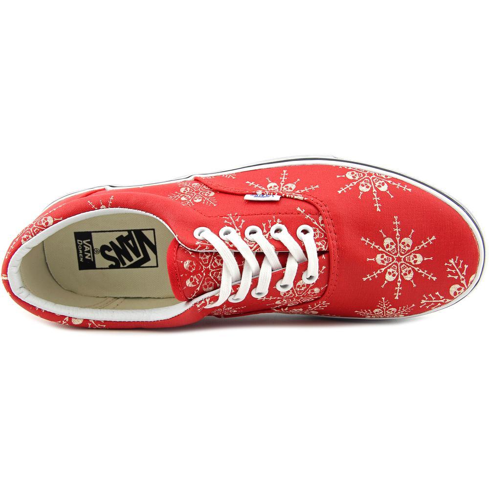 03c125d7c9d0 Vans - Vans Era Van Doren Skull Snowflake   Racing Red Ankle-High Canvas  Fashion Sneaker - 10.5M   9M - Walmart.com