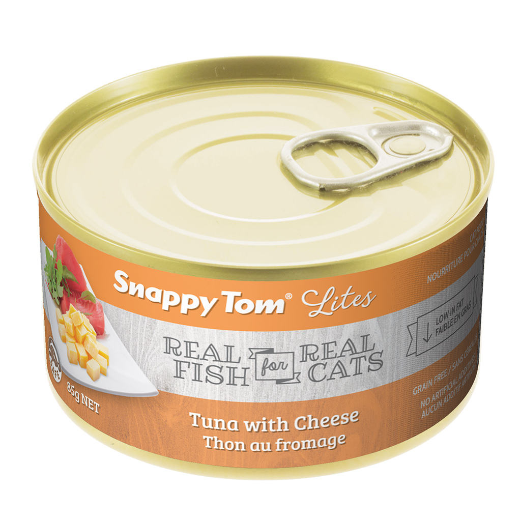 (12 Pack) Snappy Tom Lites Tuna with Cheese Grain Free Wet Cat Food, 3.0 Oz.