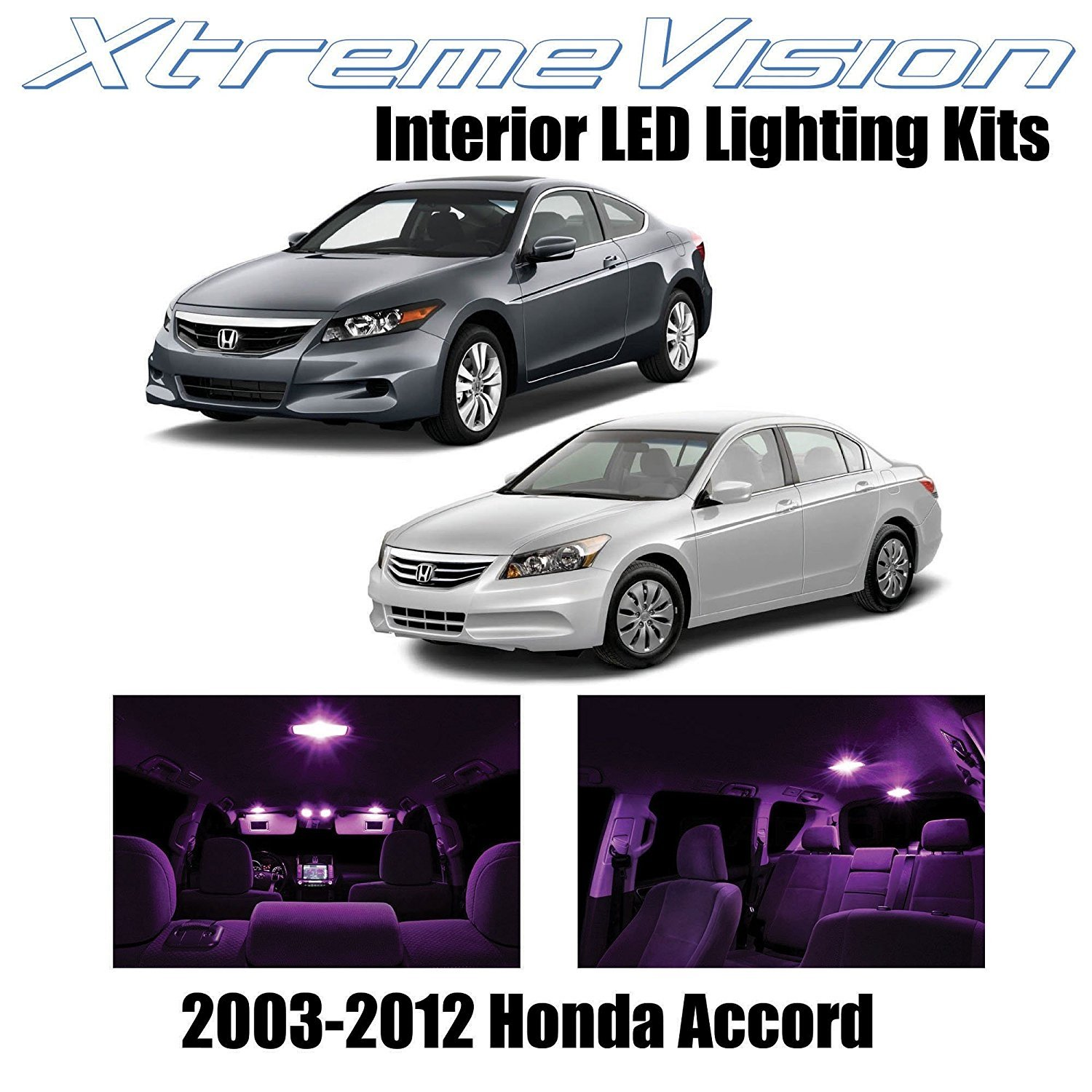 XtremeVision LED for Honda Accord 2003-2012 (12 Pieces) Pure White Premium Interior LED Kit Package + Installation Tool