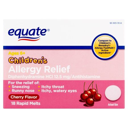 Equate Children's Allergy Relief Diphenhydramine Cherry