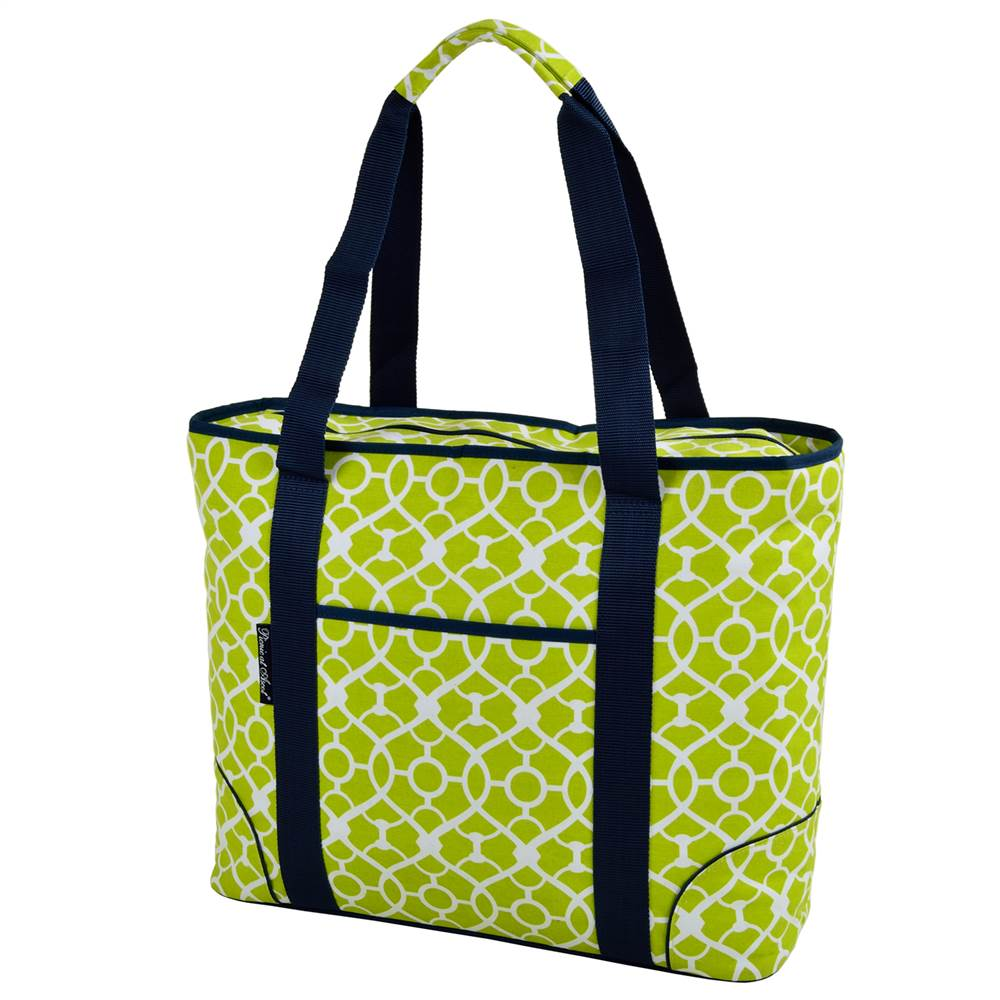 Extra Large Insulated Cooler Tote in Trellis Green