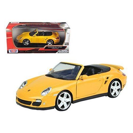 Porsche 997 Carrera Cabriolet - 1 by 24 Porsche Carrera 911 997 Turbo Cabriolet Diecast Model Car, Yellow