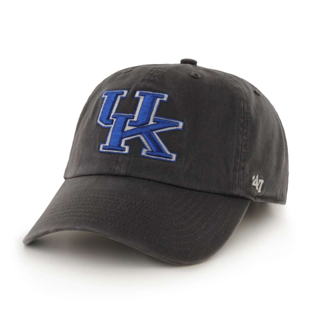 newest b4918 2887a usa kentucky wildcats 47 brand clean up adjustable hat charcoal a617a f731d