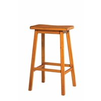 Wooden Bar Stool (Set-2), Antique Oak by Benzara