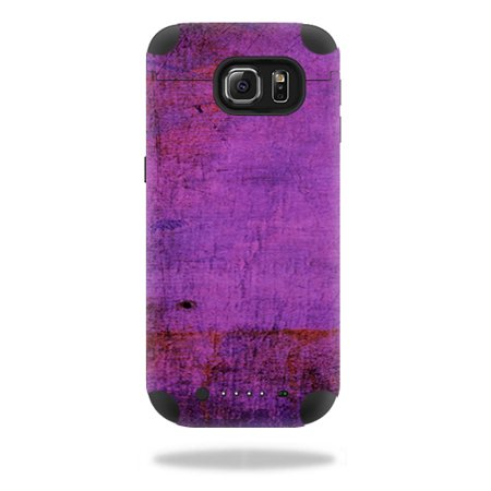 Mightyskins Protective Vinyl Skin Decal For Mophie Juice Pack Samsung Galaxy S6 Wrap Cover Sticker Skins Purple Sky