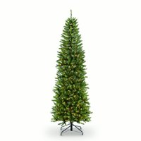 4 1/2 ft. Pre-lit Fraser Fir Pencil Artificial Christmas Tree 150 UL listed Clear Lights