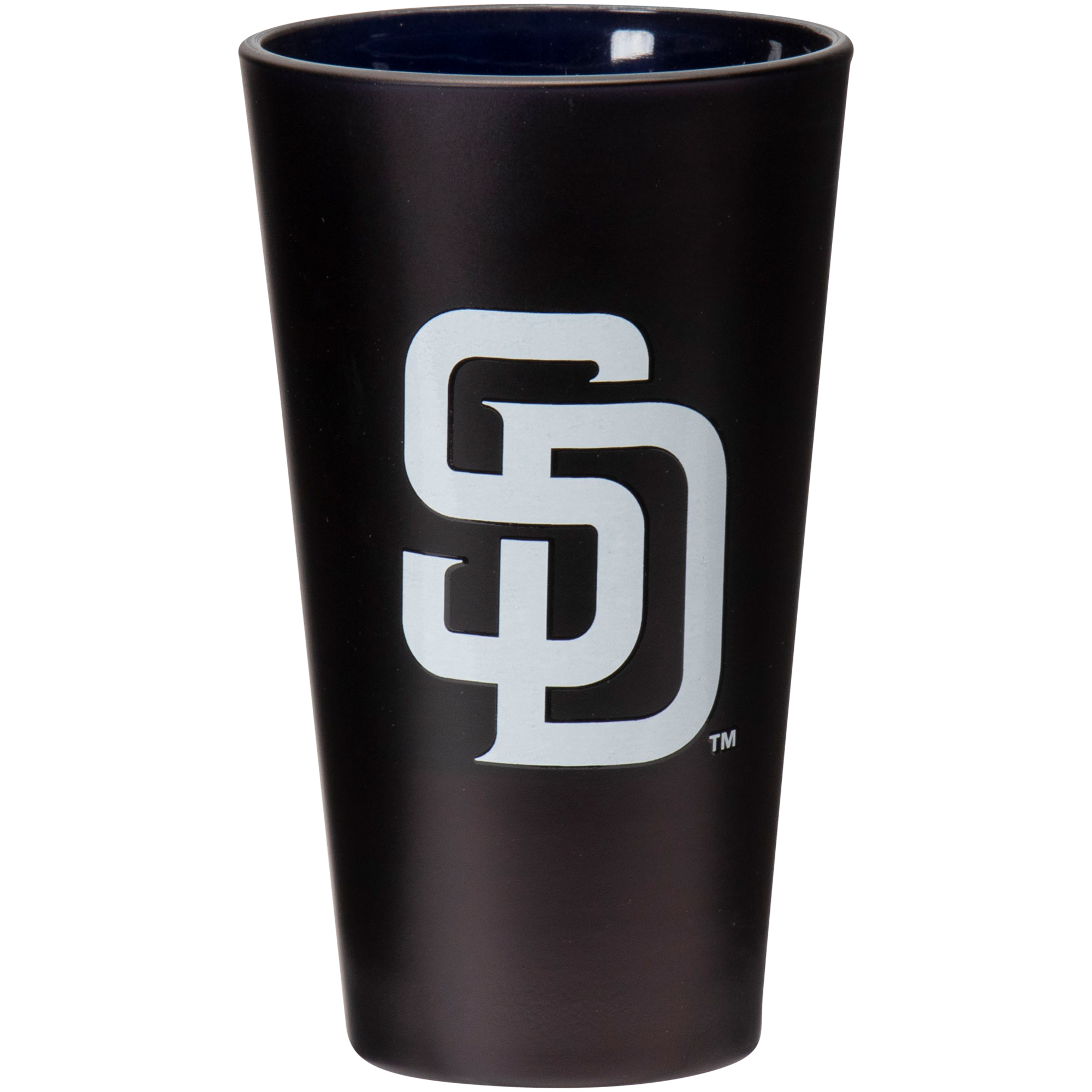 San Diego Padres 16 oz. Team Color Frosted Pint Glass - No Size