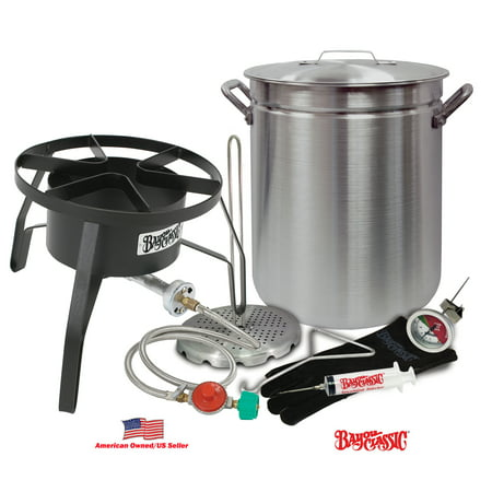 Bayou Classic Oversized Turkey Deep Fryer Kit - 42-Quart Aluminum