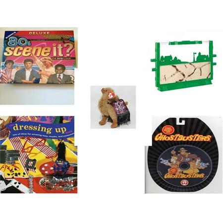 Children's Gift Bundle [5 Piece] -  80'S Scene It? The Deluxe DVD Trivia  - Uncle Milton's Ant Farm Live Ant Habitat  - TY Attic Treasure Lawrence the Camel 7
