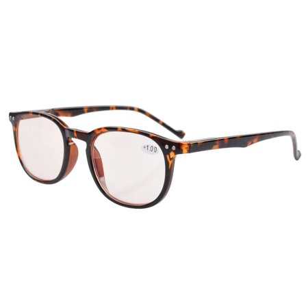 f9c026296207 Spring Hinges Classic Retro Style Computer Reading Glasses (Amber Tinted  Lenses, Tortoise) +1.5 - Walmart.com