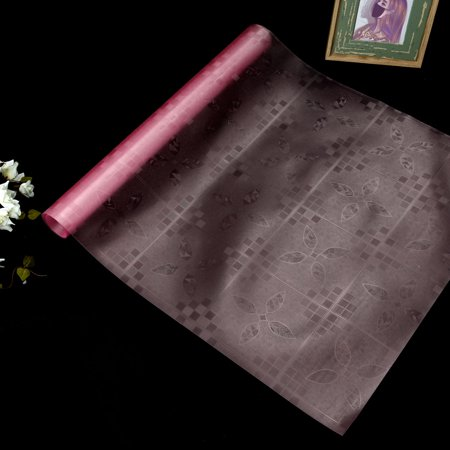 Leaves Pattern Cabinet Table Mat Drawer Liner Wardrobe Shelf Pad Pink 50 x 100cm - image 2 of 7