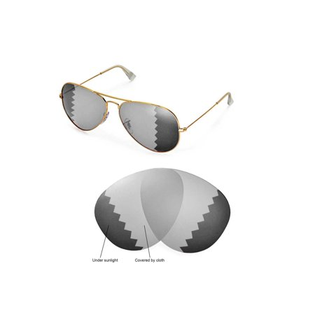 d594a168c0c Walleva - Walleva Transition Photochromic Polarized Replacement Lenses for  Ray-Ban Aviator Large Metal RB3025 62mm Sunglasses - Walmart.com